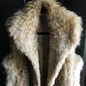 Vince Coyote Fur Vest